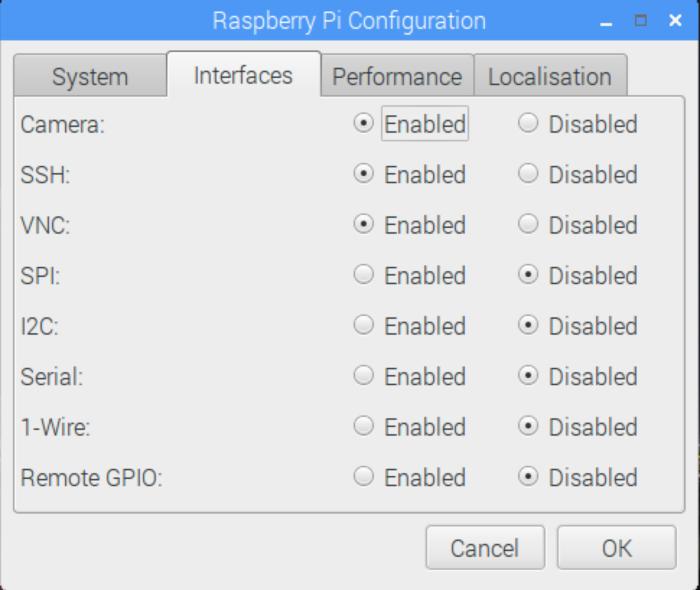 Raspberry Pi Config: Interfaces
