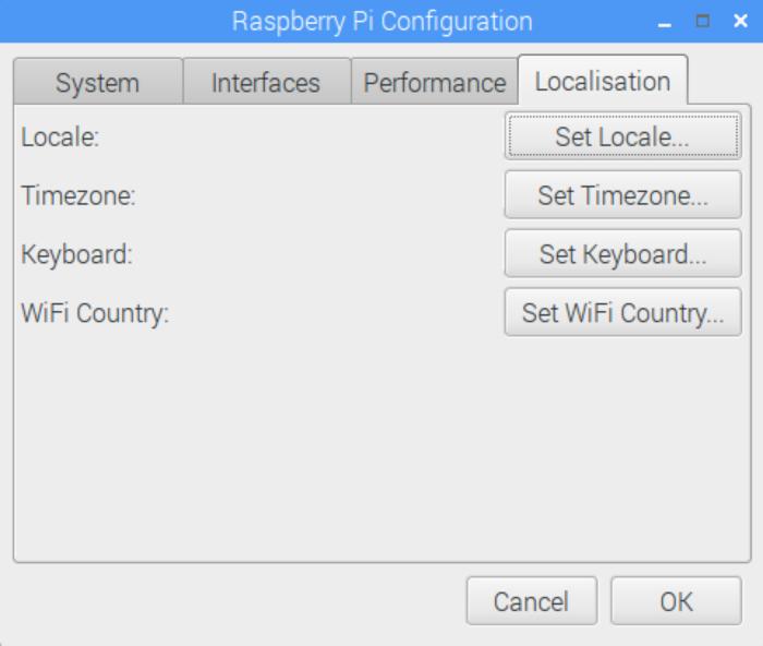 Raspberry Pi Config: Localisation